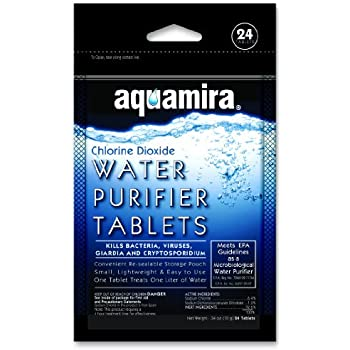 Aquamira Chlorine Dioxide Water Purification Tablets (24 Pack)