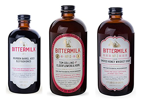 Bittermilk Cocktail Mixer Variety Pack - Includes Bittermilk No.1 No.2 No.3