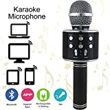 Wireless PortableKaraokeMicrophone- Bluetooth Karaoke Microphone/Handheld Cellphone Karaoke Player for iPhone or Android Smartphone & PC