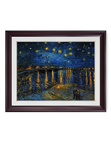 - DECORARTS - Starry Night Over The Rhone by Vincent Van Gogh Classic Art. Giclee Print Framed Art for Wall Decor. Picture& Mat Size: 30x24, Framed Size: 34x28