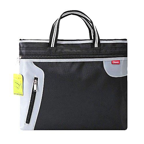 Mmrm A4 Expanding File Zipper Pocket Filing Business Document Bag Folder Portfolio Bag Tote-Black by Mmrm