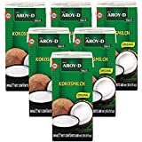 Aroy-D 100% Coconut Milk 16.9 Fluid Ounce (500ml), Pack of 6