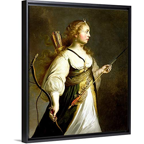 Adam Camerarius Floating Frame Premium Canvas with Black Frame Wall Art Print Entitled Diana 20