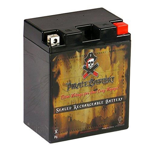 Pirate Battery YTX14AHL-BS - Batería deportiva de alto rendimiento