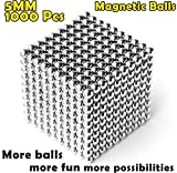 aBrilliantLife 5MM 1000 Pieces Magnetic Balls Toys Sculpture Building Magnetic Blocks Magnets Cube Gift for Intellectual Development -Office Toy Stress Relief Gifts for Teens and Adult-Sliver