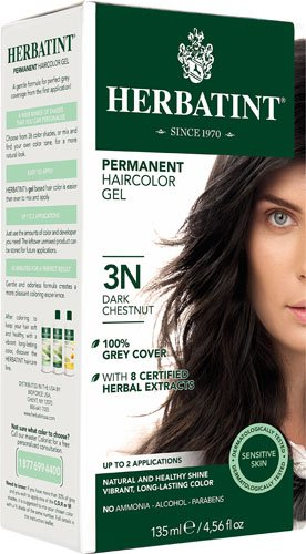 Herbatint Permanent Herbal Haircolour Gel 3N Dark Chestnut -- 135 mL - 2pc