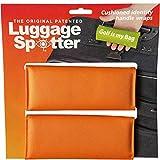 Luggage Spotter ORANGE Luggage Locator/Handle Grip/Luggage Grip/Travel Bag Tag/Luggage Handle Wrap (2 PACK)