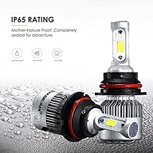 Auxbeam LED Headlight Bulbs F-S2 Series 9007 HB5 Bridgelux COB LED headlight conversion kit with 2 Pcs of 9007 Bulbs 72W 8000lm Hi-Lo Beam - 1 Year Warranty