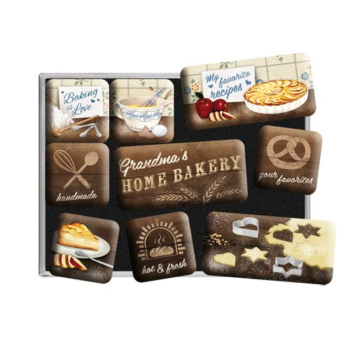 Home Bakery Nostalgic-Art Ensemble de 9 Magnets