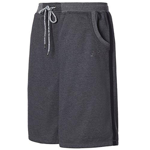 Greatrees Mens Big & Tall Casual Fit Cotton Elastic Shorts