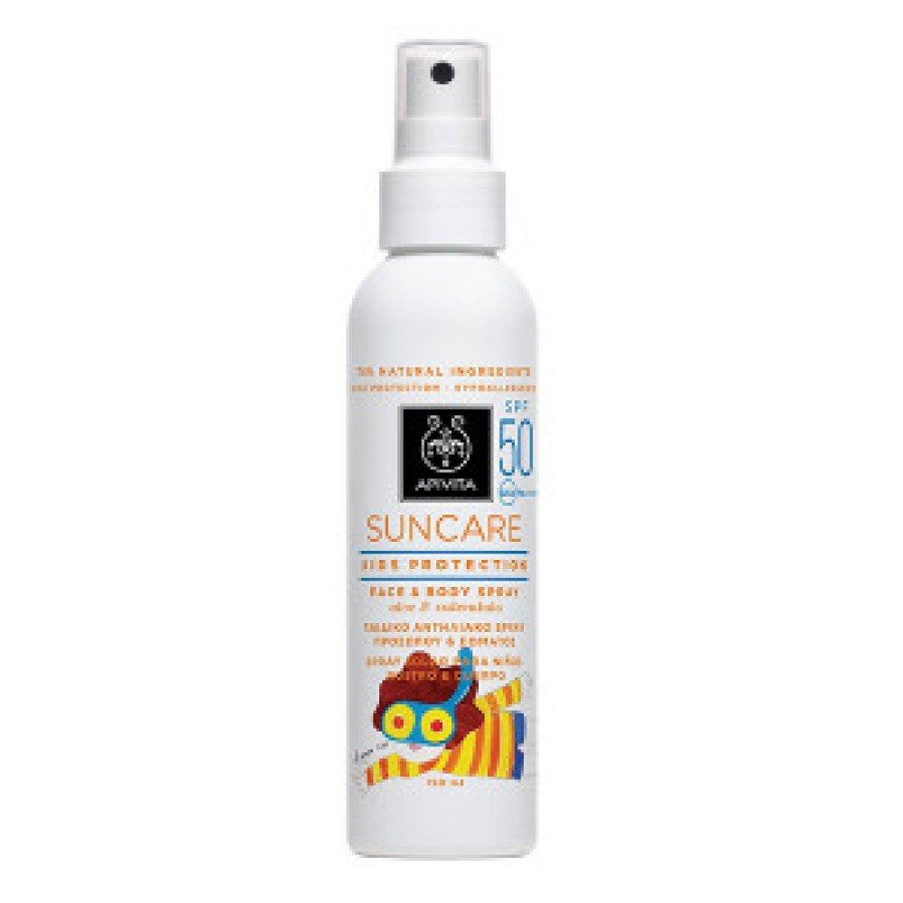 Apivita Suncare Kids Protection Spray SPF50 with Aloe & Calendula 150ml & FREE Photo-Sensitive Bracelet