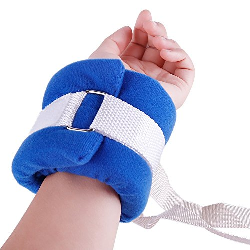 BIHIKI Control Limb Holder,4pcs Medical Restraints Patient Hospital Bed Limb Holders for Hands Or Feet Universal Constraints Control Quick Release (Blue) ()
