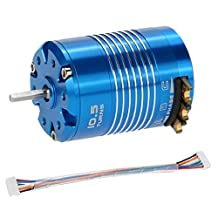 MonkeyJack 540 10.5T 3450KV Waterproof Sensored Brushless Motor for 1/10 RC Car Auto Truck Model Vehicle Parts High quality