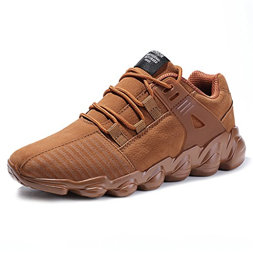 KuBua+Winter+Mens+Running+Shoes+Indoor+and+Outdoor+Sport+Shoes+Athietic+Fitness+Fashion+Sneaker+Casual+for+Men+11+D%28M%29+US+%2F+EU+45+C+Yellow