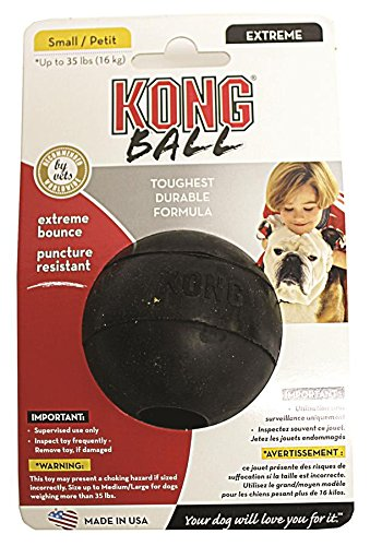KONG Extreme Ball, Dog Toy, (Kong Dog Toys For Small Breeds)