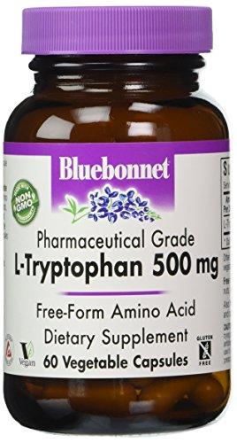 Bluebonnet Kosher Amino Acid - Bluebonnet L-Tryptophan 500 mg Vitamin Capsules, 60 Count