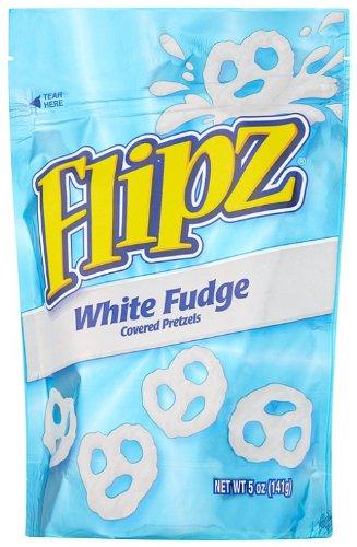 Flipz Pretzels, White Fudge, 5-Ounce Packages (Pack of (Fudge Pretzel)