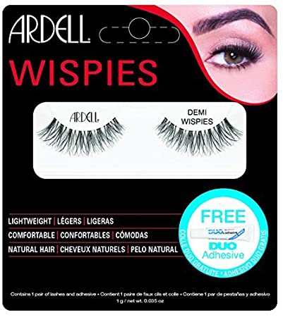4c3c215688e Amazon.com : Ardell Invisiband Lashes Glamour False Lashes - Demi Wispies -  Black by Ardell : Beauty