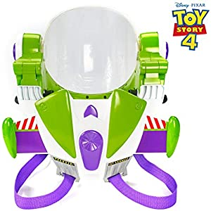 51MQS24%2B58L. SS300  - Toy Story Disney/Pixar 4 Buzz Lightyear Toy Astronaut Helmet for Role-Play Movie Action with Jetpack, Lights, Authentic…