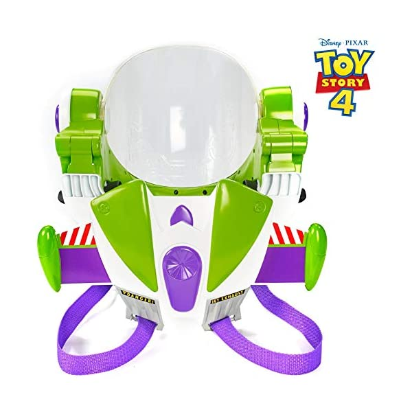 51MQS24%2B58L. SS600  - Toy Story Disney/Pixar 4 Buzz Lightyear Toy Astronaut Helmet for Role-Play Movie Action with Jetpack, Lights, Authentic…