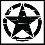 Auto Vynamics - STENCIL-INVSTAR-DISTRESSED-10 - Distressed Military Invasion Star Stencil - A Weathered Version Of The Iconic WWII Symbol! - 10-by-10-inch Sheet - (1) Piece Kit - Single Sheet