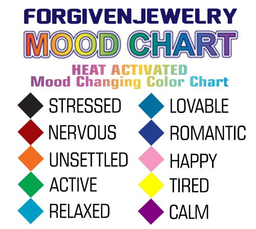 Mood Necklace Colors Amazing Angel Mood Necklace At With