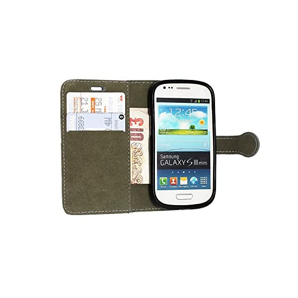STYLE YOUR MOBILE Samsung Galaxy S3S III Mini I8190Piel sintética con Cierre magnético Carcasa Skin Funda Bolsa + Protector + Lápiz Capacitivo 6