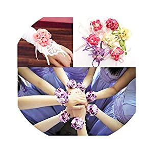 1PC Fashion Wrist Corsage Bracelet Bridesmaid Sisters Hand Artificial Bride Flowers Wedding Dancing Gifts for Guests Party Decor 114