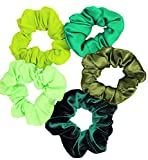 Shades Green Scrunchies