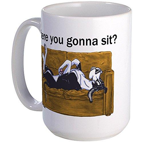 - CafePress Nmtl Where U Gonna Sit? Large Mug Coffee Mug, Large 15 oz. White Coffee Cup