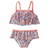 Crazy 8 Toddler Girls' Ditsy Bikini Ditsy Print Ruffle Bikini, Multi, 4Y