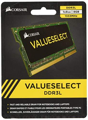 (Corsair CMSO8GX3M1C1333C9 8GB (1x8GB) 1333MHz PC-10600 204-Pin DDR3 SODIMM Laptop Memory 1.35V)