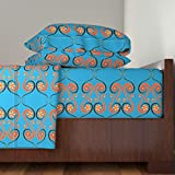 Roostery African 4pc Sheet Set African Swirls Large Repeat With Patterned Background by Kfrogb King Sheet Set made with
