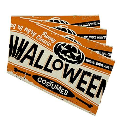 Mugod Placemats Halloween Costumes Shop with Pumpkin Head