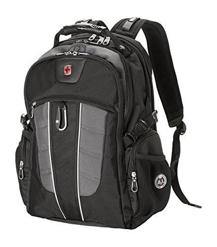 SwissGear Backpack Laptop Travel Backpack ScanSmart (Black/Grey, Model SA1753)