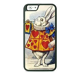 Case Fun Case Fun Alice in Wonderland White Rabbit TPU Rubber Back Case Cover for Apple iPhone 6 4.7 inch