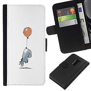 LG G2 / D800 / D802 / D803 / VS980 Modelo colorido cuero carpeta tirón caso cubierta piel Holster Funda protección - Minimalist Cartoon Kids