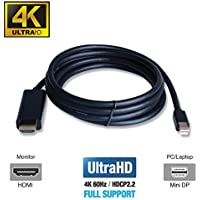 UPTab Mini DisplayPort 1.2 to HDMI 2.0a 6ft Active Cable 4K@60Hz