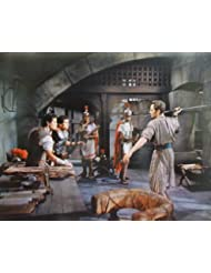 Charlton Heston and Stephen Boyd in Ben-Hur holding spear 11X14 Promotional Photograph