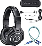 Audio-Technica ATH-M40x Professional Studio Monitor Headphones Bundle...