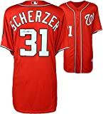 Max Scherzer Washington Nationals Autographed Red Authentic Jersey - Fanatics Authentic Certified - Autographed MLB Jerseys