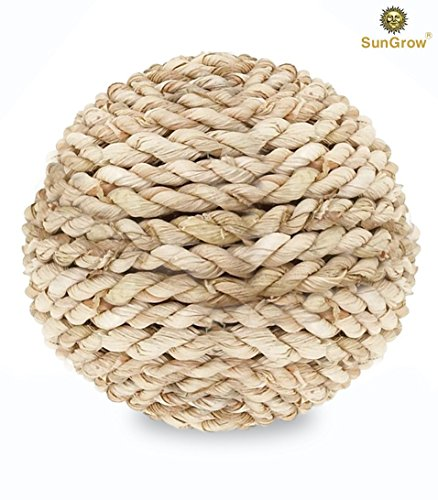 Sungrow Rabbit Rope Ball   Natural Grass Ball   Environmentally Friendly Toy   Entertaining   Fun For Your Pet   Suitable Play Tool For Guinea Pigs   Chinchillas   Other Small Pets