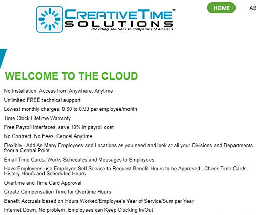 Cloud Monthly Billed Fingerprint with Life Warranty & Live Support