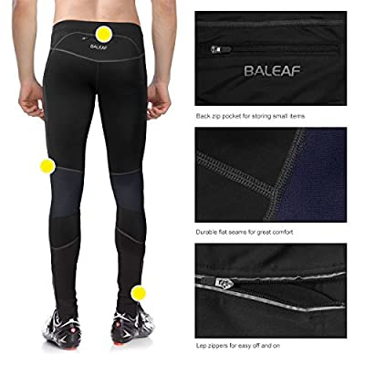 Baleaf Men's Windproof Thermal Cycling Tight Pants