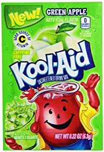 Amazon Com Green Apple Kool Aid Powdered Drink Mix Pack