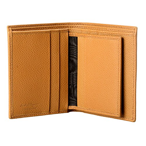 Wallet Men's Bifold Salvatore Salvatore Ferragamo Men's Brown Leather Light Textured Light Ferragamo XxqPvp