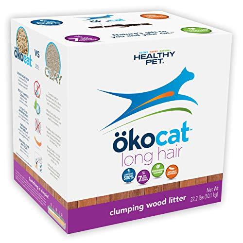 ökocat Natural Wood Cat Litter, 20.2-Pound, Clumping for Long Hair Breeds