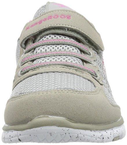 KangaROOS Liberty 1383A Unisex-Kinder Sneaker Grau (semi grey/pink 261)