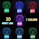 Basketball Team 3D Optical Illusion Smart 7 Colors