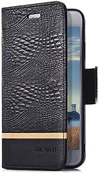 Uposao Compatibile con iPhone 6 Plus//6S Plus Custodia Semplice Classica in Pelle PU Portafoglio Libro Flip Magnetica Cover con Funzione di Supporto Porta Cart,Orange